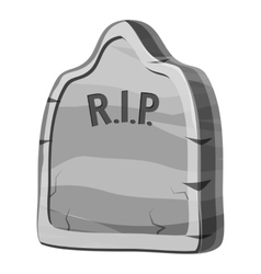 Gravestone and RIP text icon gray monochrome style vector image vector image