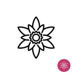 Lotus flower symbol vector image vector image