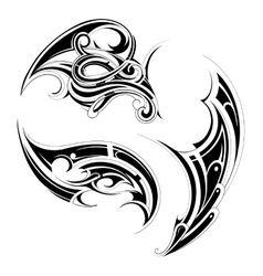 Maori tattoo set vector image vector image