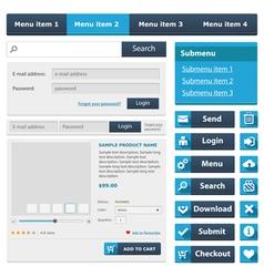 Online shop flat design elements set4 vector image