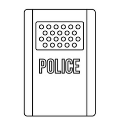 police icon outline style vector image