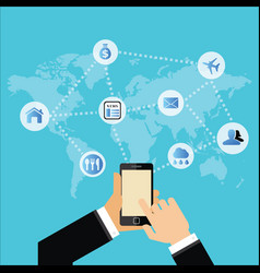 social media networks and communication business vector image