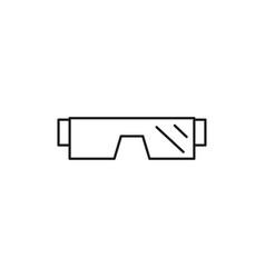 winter glasses icon vector image