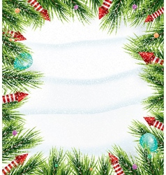 Christmas background with white snowflake vector image vector image