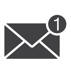 New message solid icon email and website button vector