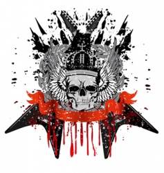 skull with crown vector image vector image