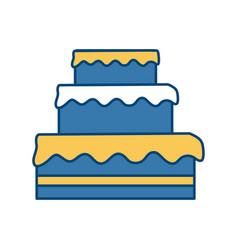 big cake dessert vector image vector image