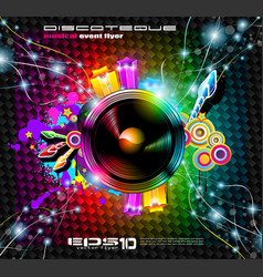 club flyer background vector image vector image