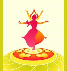 dancing onam holiday vector image vector image