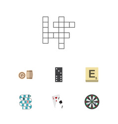 flat icon play set of ace guess multiplayer and vector image