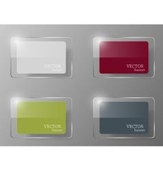 Glass banner set vector image vector image