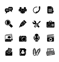 Silhouette Chat Application and communication Icon vector image