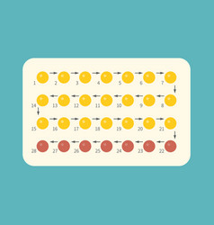 strip of 28 contraceptive pill vector image vector image