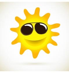 Sun Smile Summer Icon vector image vector image