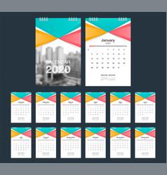 2020 calendar desk calendar modern design vector image