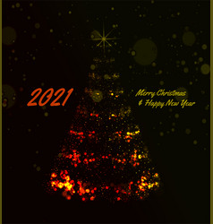 2021 christmas tree background vector image