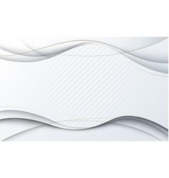abstract simple geometric wavy shape luxury vector image