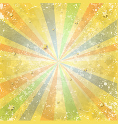 abstract vintage background with rays and stars vector image