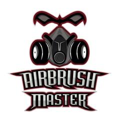 Airbrush master logo vector