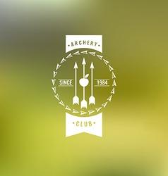 Archery club label logo and design element vector