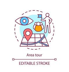 Area tour concept icon tourism visiting sights vector
