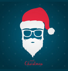 avatar santa claus in white glasses vector image