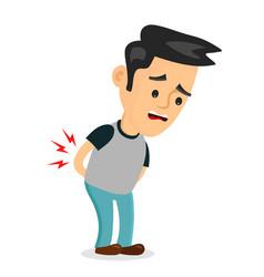 backache problems flat cartoon vector image