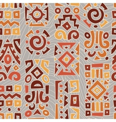 Background with elements of African ornament vector image