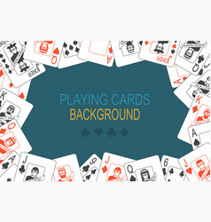 background with playing cards vector image