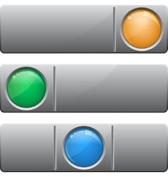 Banners with glass button vector image