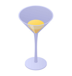 Bar cocktail icon isometric style vector