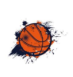 Basketball ball sport streetball banner or emblem vector