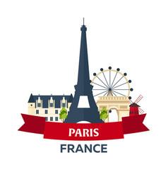 Bastille day 14 july paris tourism eiffel vector