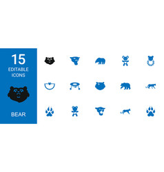 bear icons vector image