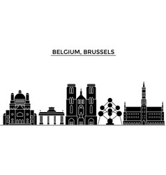 Belgium brussels architecture city skyline vector