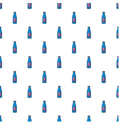 Bottle cream pattern seamless vector