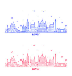 budapest skyline hungary city buildings vector image