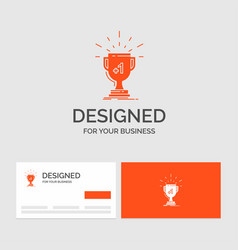 business logo template for award trophy win prize vector image