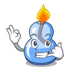 Call me alcohol burner mascot cartoon vector