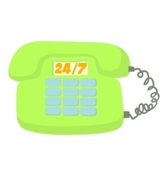 Call service icon cartoon style vector