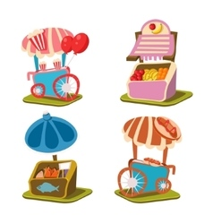 Cart Stall and Takeaway vector