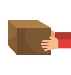 Carton box isolated icon vector