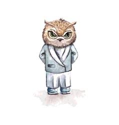 Cartoon owl concept design Bird are isolated on vector image