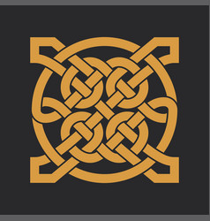 Celtic knot ethnic ornament geometric design vector