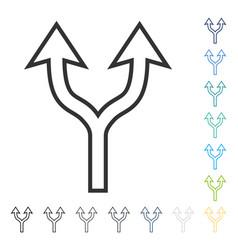 Choice arrow up icon vector