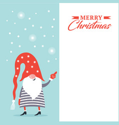 christmas banner with place for your text vector image