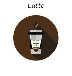 Coffee cup coffee latte vector