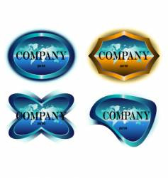 company label design vector image