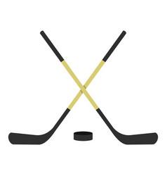 crossed hockey sticks icon isolated vector image