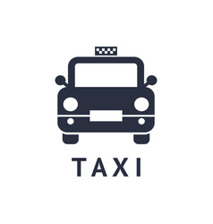digital black travel taxi vector image